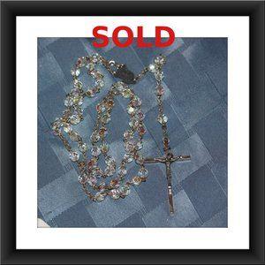 Jewelry - Vintage Aurora Borealis Italian Crystal Rosary